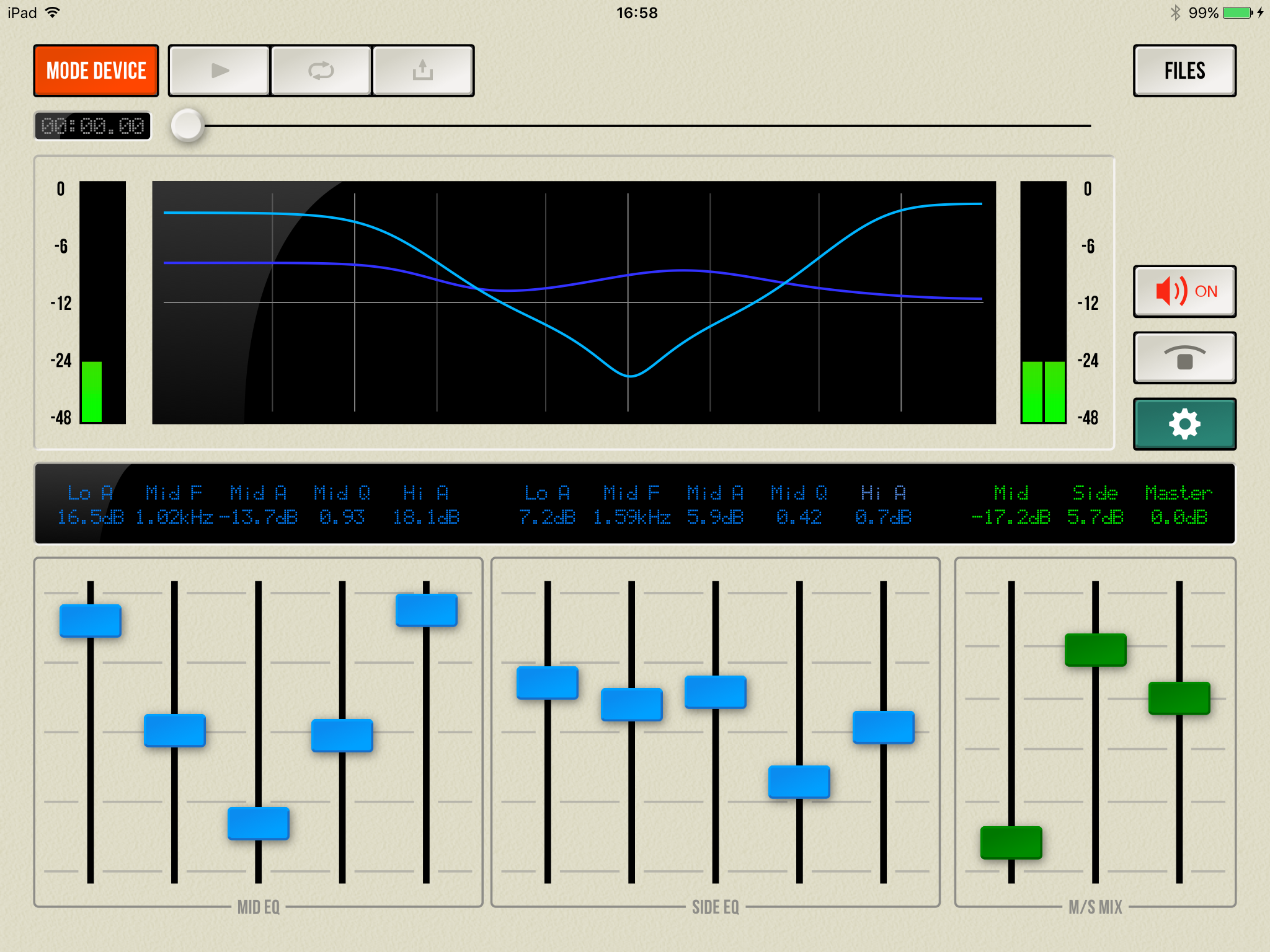 ART Teknika releases M/S Proc 1.0 for iOS - Mid/Side Level and EQ Image